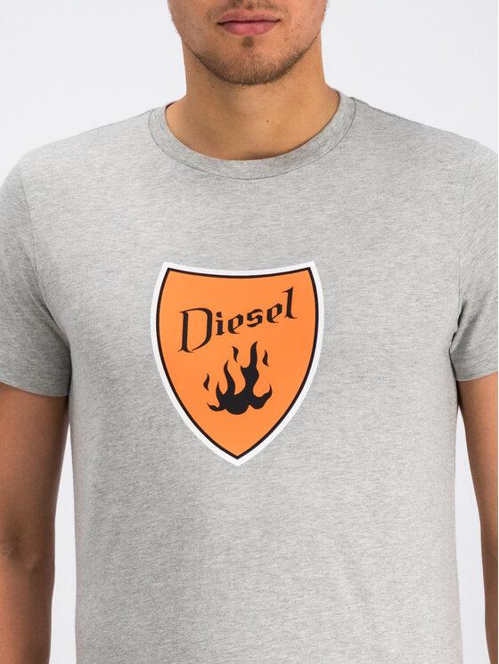 Diesel Diesel T-Shirt T-Diego-B2 00SXMH 0091A Szary Regular Fit