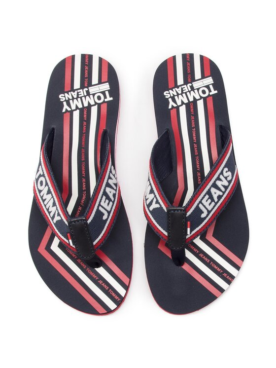 Tommy Jeans Tommy Jeans Japonki Pop Webbing Beach Sandal EN0EN00468 Granatowy