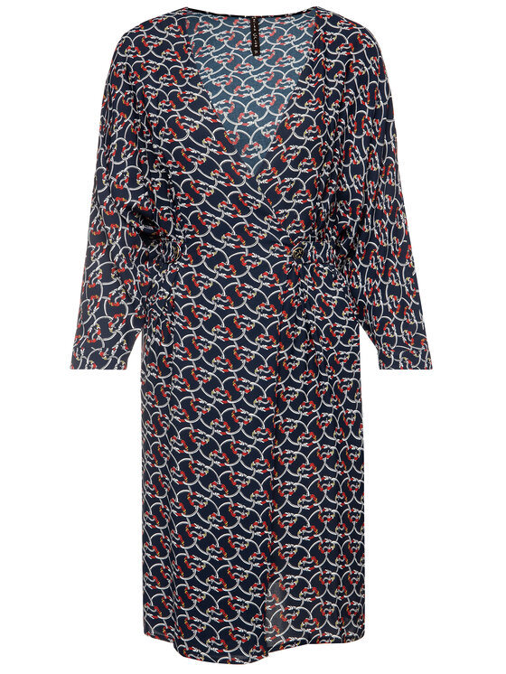 Manila Grace Manila Grace Φόρεμα καθημερινό A084VS Σκούρο μπλε Skinny Fit