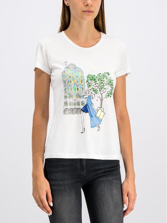 Patrizia Pepe Patrizia Pepe T-Shirt 8M0796/A4S2-J2ES Biały Regular Fit