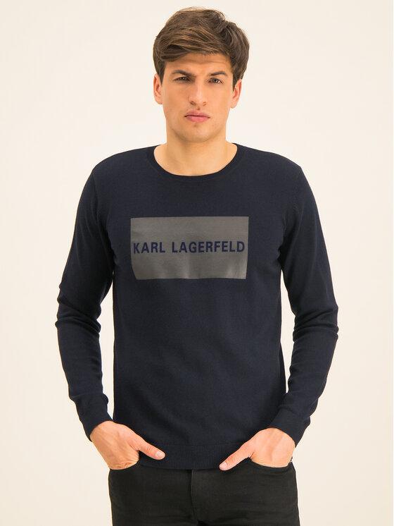 KARL LAGERFELD KARL LAGERFELD Пуловер Knit 655027 592305 Тъмносин Regular Fit