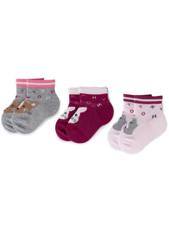TOMMY HILFIGER TOMMY HILFIGER Set di 3 paia di calzini lunghi da bambini 495002001 Rosa