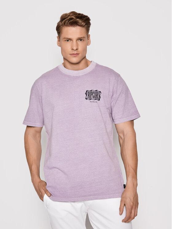 Rip Curl Marškinėliai Mind Wave Logo CTERL9 Violetinė Relaxed Fit