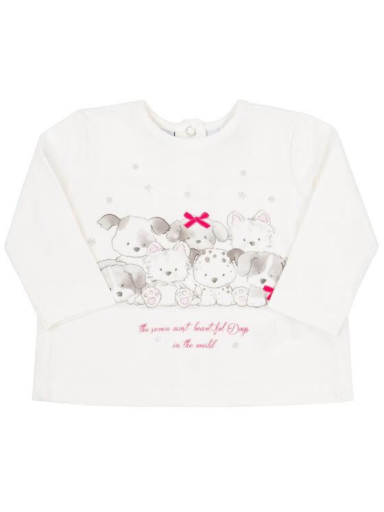 Primigi Primigi Komplet bluzka i legginsy Little Crazy World 44196551 Biały Regular Fit