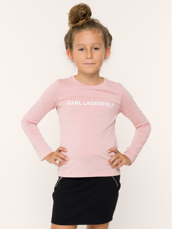 KARL LAGERFELD KARL LAGERFELD Blúz Z15208 S Rózsaszín Regular Fit