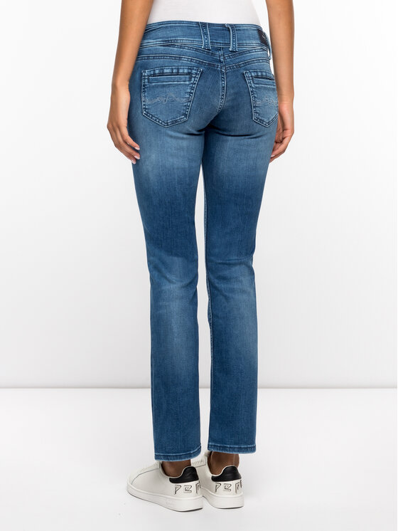 Pepe Jeans Pepe Jeans Jeansy Gen PL201157 Granatowy Straight Fit