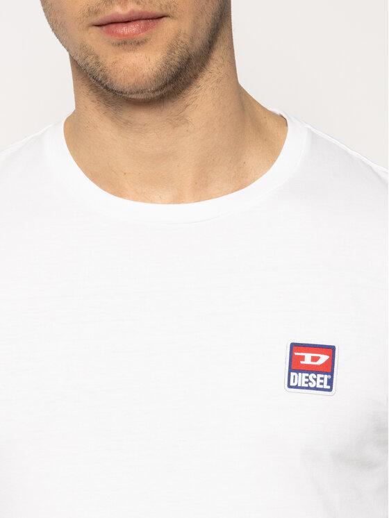 Diesel Diesel Тениска с дълъг ръкав T-Diego-Div-Ls 00S5ZT 0PATI Бял Regular Fit