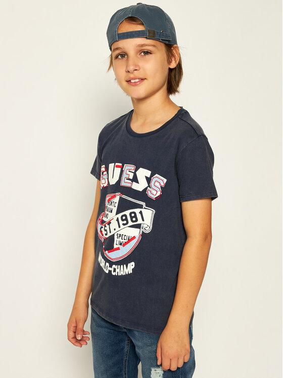 Guess Guess T-shirt L01I13 K82C0 Bleu marine Regular Fit