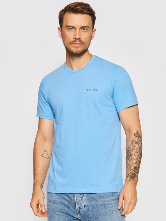 Calvin Klein Marškinėliai 000NM1586E Mėlyna Regular Fit