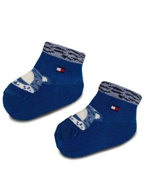 Tommy Hilfiger Tommy Hilfiger Lot de 3 paires de chaussettes hautes enfant 395006001 Bleu marine