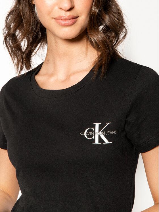 Calvin Klein Jeans Calvin Klein Jeans Komplet 2 t-shirtów Lot De J20J214364 Czarny Slim Fit
