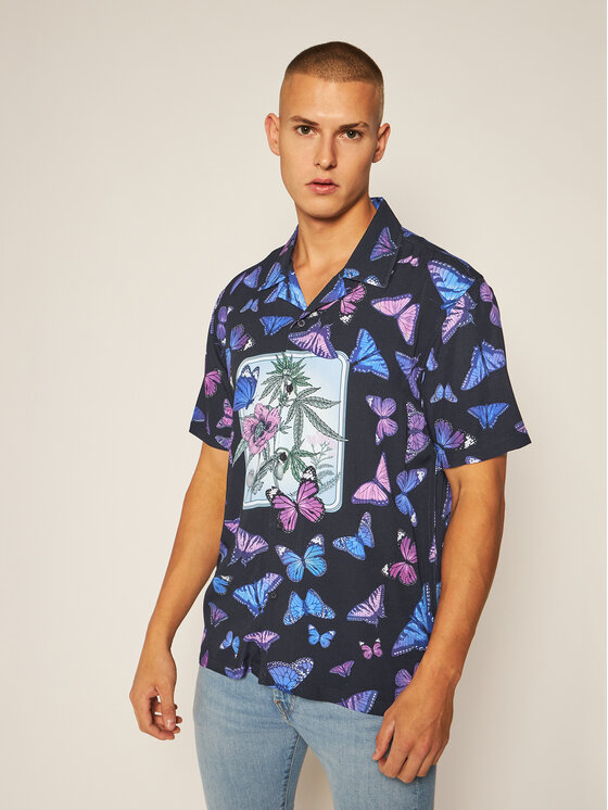 HUF Koszula Papillon BU00076 Czarny Regular Fit