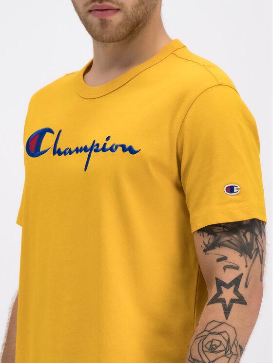 Champion Champion Tričko 210972 Žltá Regular Fit