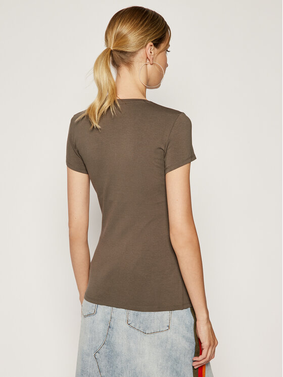 Guess Guess T-Shirt W94I89 K7DE0 Πράσινο Regular Fit