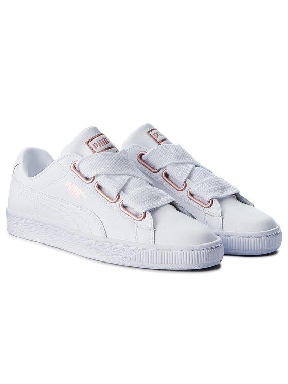 Puma Puma Sportcipő Basket Heart Leather 367817 01 Fehér