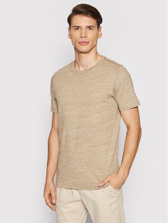 Jack&Jones PREMIUM Marškinėliai Blubowery 12194103 Ruda Regular Fit