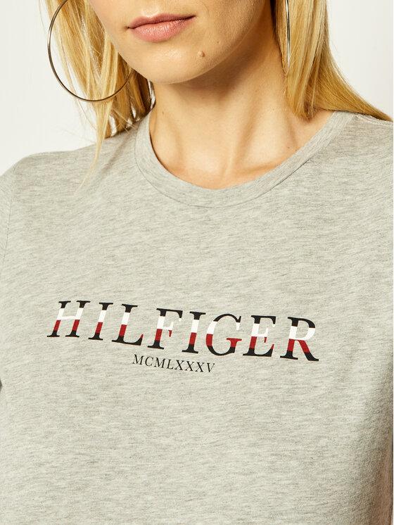 Tommy Hilfiger Tommy Hilfiger T-Shirt Kacy C-Nk WW0WW25892 Šedá Regular Fit
