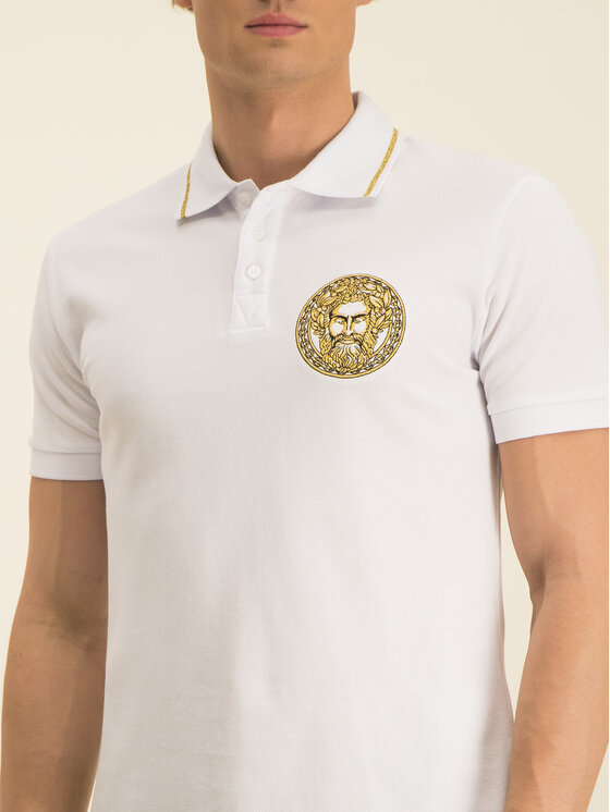 Versace Jeans Couture Versace Jeans Couture Polo B3GVA7P4 Bianco Regular Fit