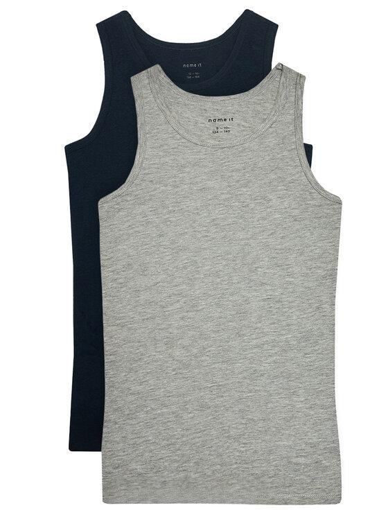 NAME IT 2 marškinėlių komplektas 13163573 Pilka Slim Fit