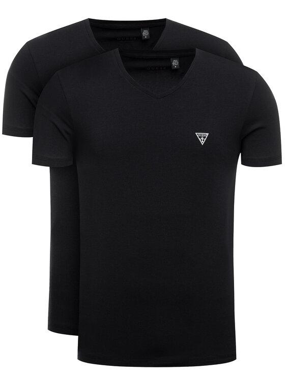 Guess 2 marškinėlių komplektas U97G03 JR003 Juoda Slim Fit