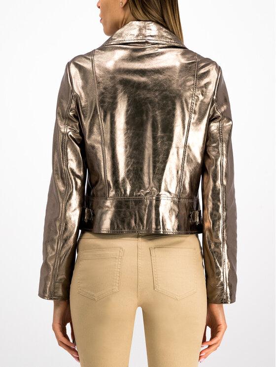 MAX&Co. MAX&Co. Giacca di pelle 64445019 Oro Regular Fit