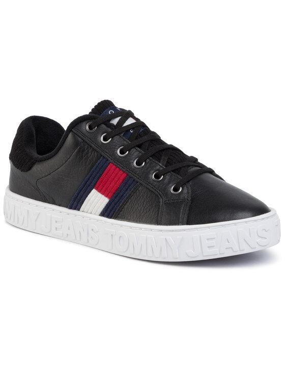 Tommy Jeans Tommy Jeans Laisvalaikio batai Cool Warm Lined Saneaker EN0EN00642 Juoda