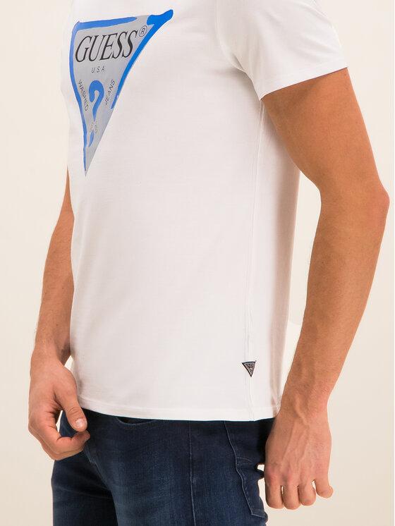 Guess Guess T-Shirt M01I55 J1300 Λευκό Regular Fit