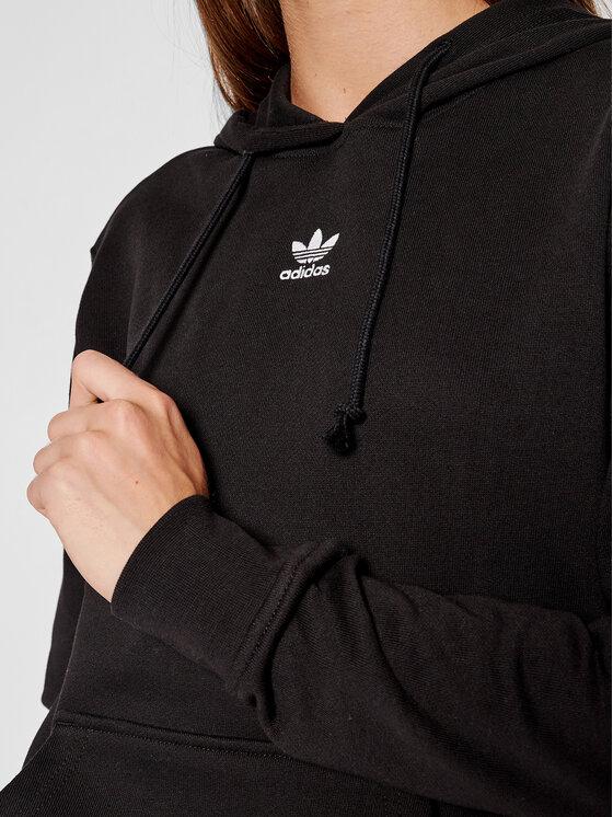 adidas adidas Majica dugih rukava adicolor Essentials H06619 Crna Regular Fit