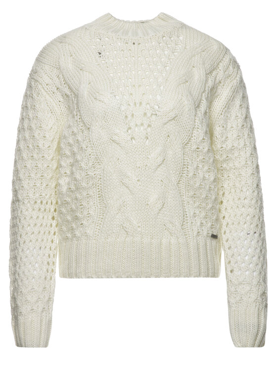 Pepe Jeans Pepe Jeans Sweter Helaia PL701525 Beżowy Regular Fit