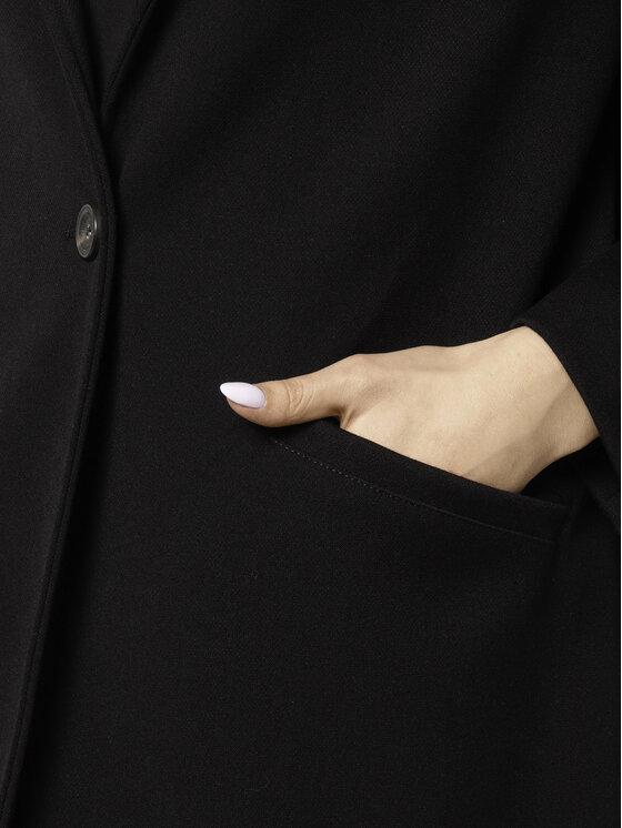 Manila Grace Manila Grace Płaszcz przejściowy K230AJ Czarny Regular Fit