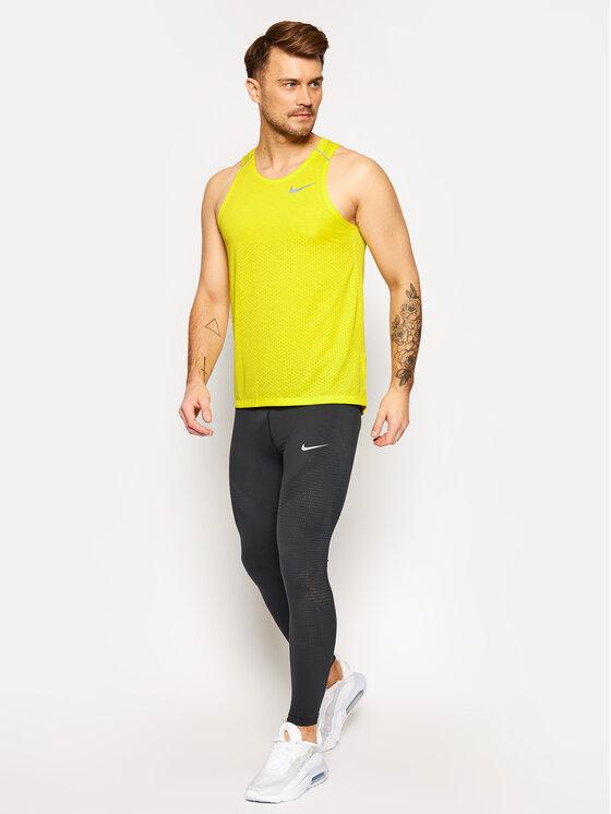 NIKE NIKE Koszulka techniczna Rise 365 AQ9917 Żółty Standard Fit