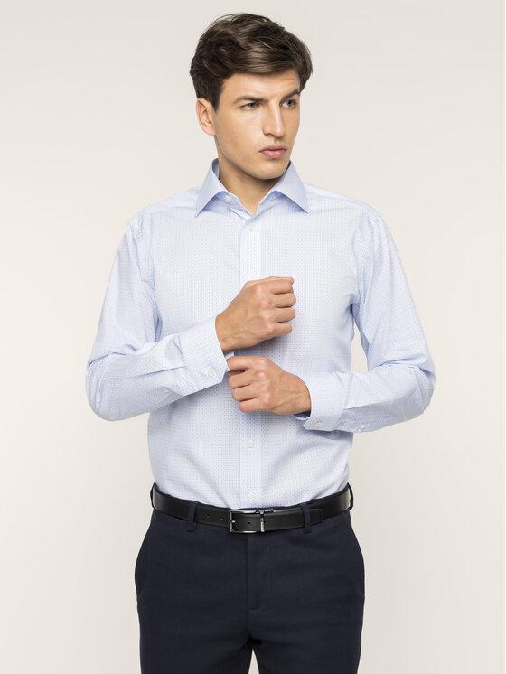Eton Marškiniai 100000281 Mėlyna Slim Fit