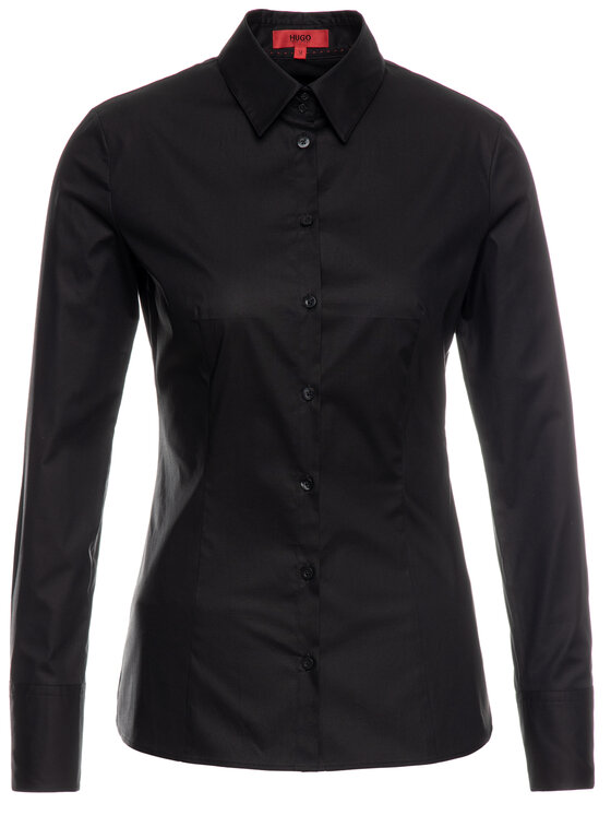 Hugo Hugo Риза 50231550 Черен Slim Fit