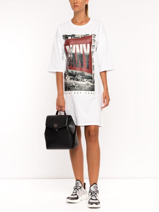 DKNY DKNY Hétköznapi ruha P9DD9BOB Fehér Regular Fit