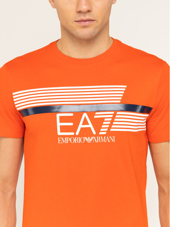 EA7 Emporio Armani EA7 Emporio Armani Póló 3HPT34 PJ02Z 1686 Narancssárga Regular Fit
