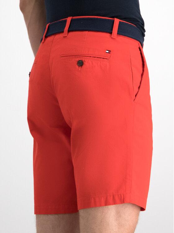 Tommy Hilfiger Tommy Hilfiger Medžiaginiai šortai Brooklym Short Light Twill Belt MW0MW10897 Raudona Regular Fit