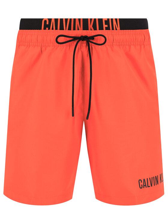 Calvin Klein Swimwear Calvin Klein Swimwear Short de bain Medium Double Wb KM0KM00450 Rouge Regular Fit