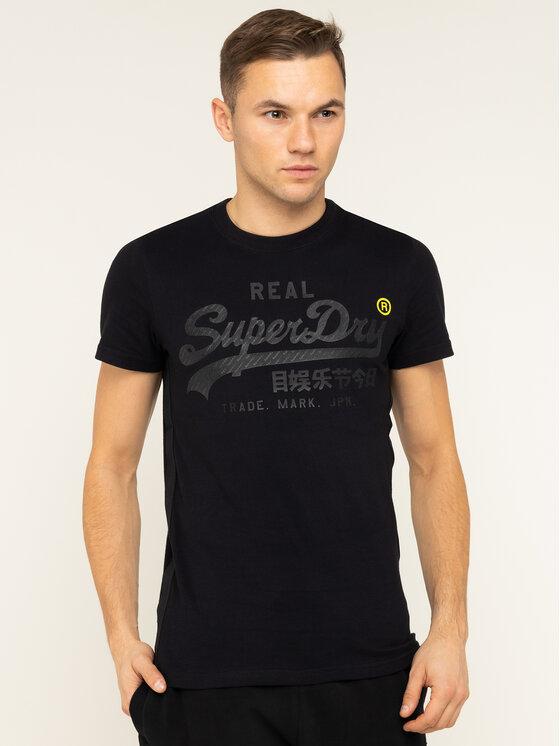 Superdry Superdry T-Shirt VL Tonal Tape Tee M1000112A Černá Regular Fit