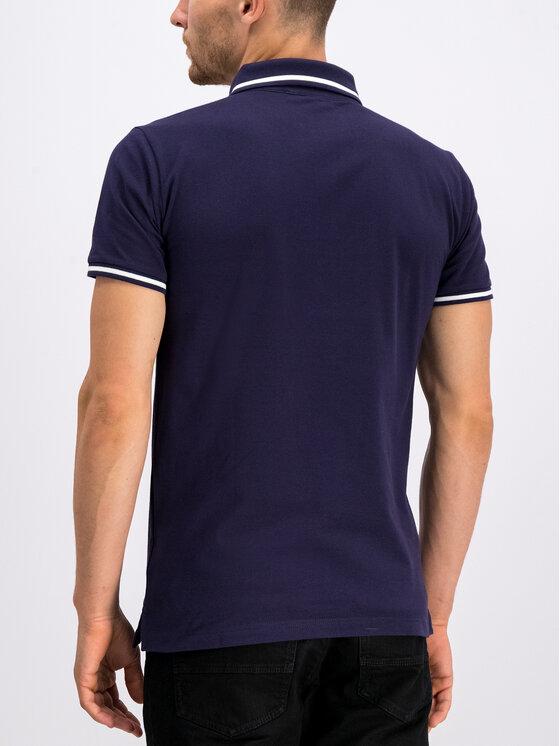 Trussardi Jeans Trussardi Jeans Тениска с яка и копчета 52T00298 Тъмносин Regular Fit