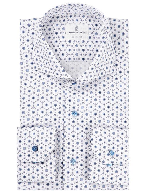 Emanuel Berg Emanuel Berg Πουκάμισο Harvard PEB47810 Λευκό Slim Fit