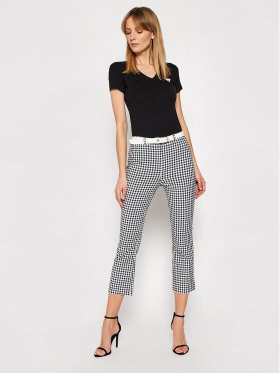 Guess Guess T-Shirt Mini Triangle W1GI17 J1311 Czarny Slim Fit