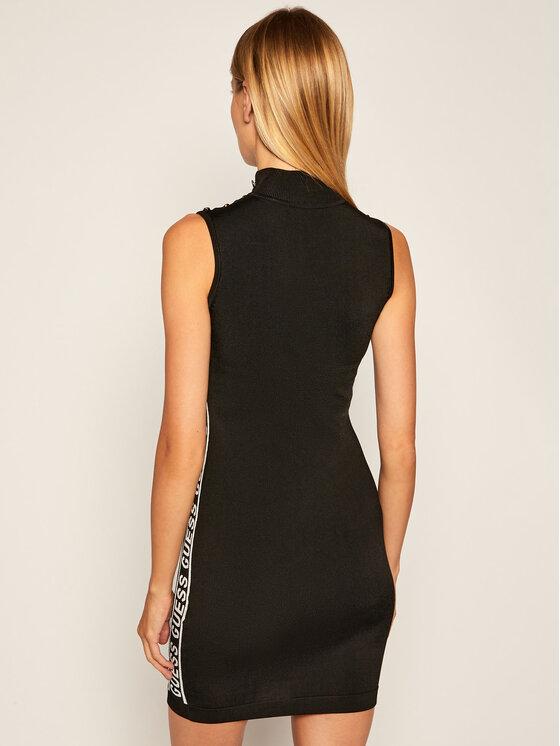 Guess Guess Úpletové šaty W0YK1M Z2GJ0 Černá Slim Fit