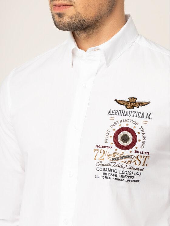 Aeronautica Militare Aeronautica Militare Košeľa 192CA1126CT2578 Biela Regular Fit
