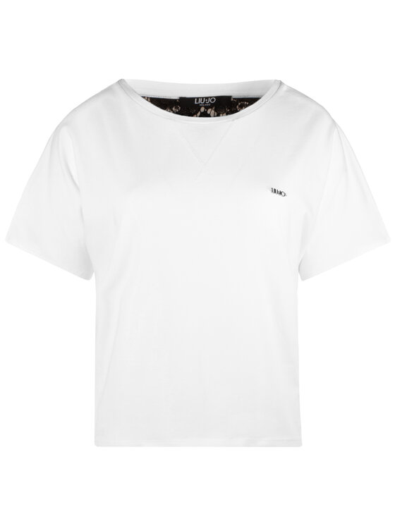 Liu Jo Sport Liu Jo Sport T-Shirt T19128 J5003 Biały Regular Fit