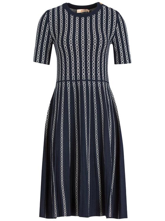 Tory Burch Tory Burch Φόρεμα υφασμάτινο Gemini 58488 Σκούρο μπλε Slim Fit