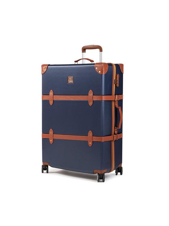 Semi Line Didelis Kietas Lagaminas Suitcase P8240-1 Tamsiai mėlyna