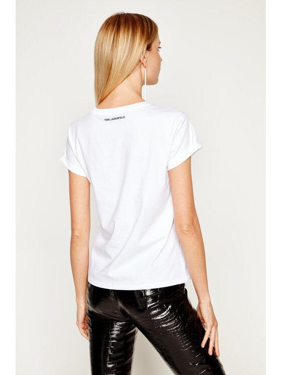 KARL LAGERFELD KARL LAGERFELD T-Shirt Ikonik Karl Pocket 201W1712 Bílá Regular Fit