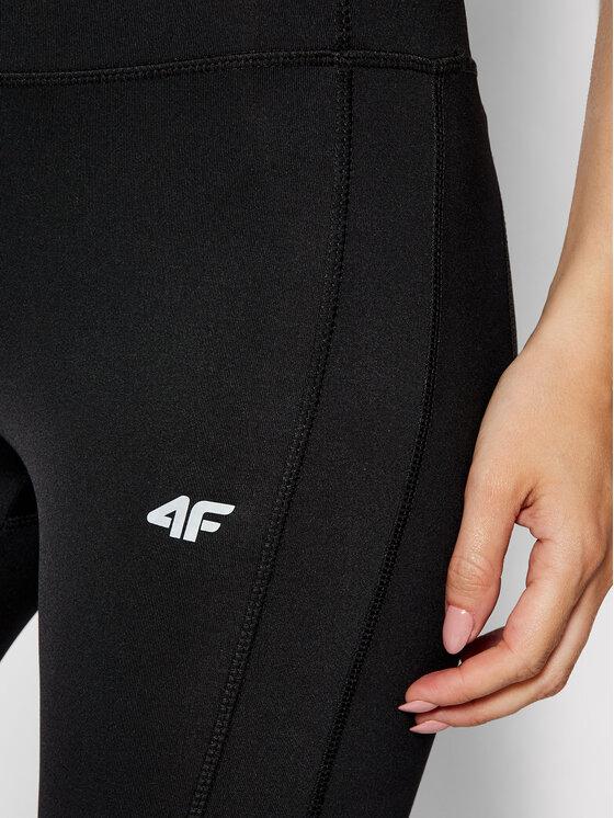 4F 4F Legginsy NOSH4-SPDF002 Czarny Slim Fit