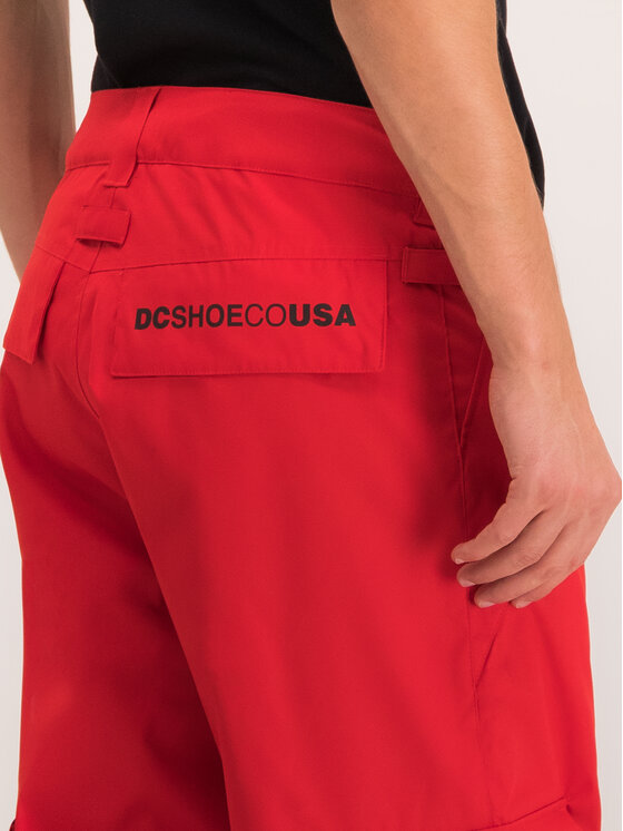 DC DC Snieglenčių kelnės EDYTP03047 Raudona Regular Fit