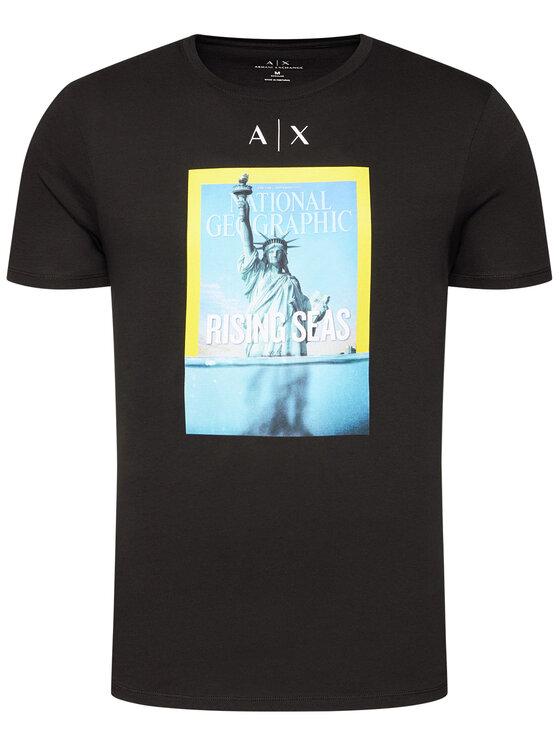 Armani Exchange Armani Exchange T-Shirt 6HZTEE ZJ3DZ 1200 Černá Regular Fit